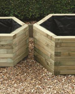 Hexagonal Planter Set